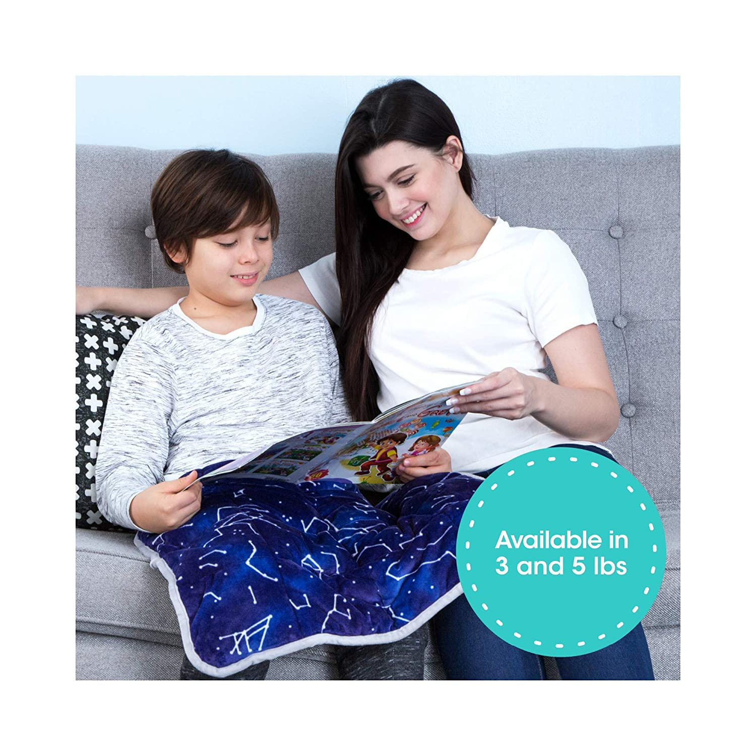 """Florensi 5 Lbs Weighted Lap Pad for Kids (20""""x23""""), Weighted Lap Blanket for Kids, 5 Pound Weighted Lap Blanket, Lap Pad for Children, Sensory Lap Pad for Child Toddler Baby Teenager"""