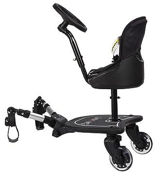 Easy X2 Rider Sit N Ride - Silla de paseo universal con 2 ruedas, con asiento y volante para adaptarse a todos los cochecitos y carritos, adaptador ...