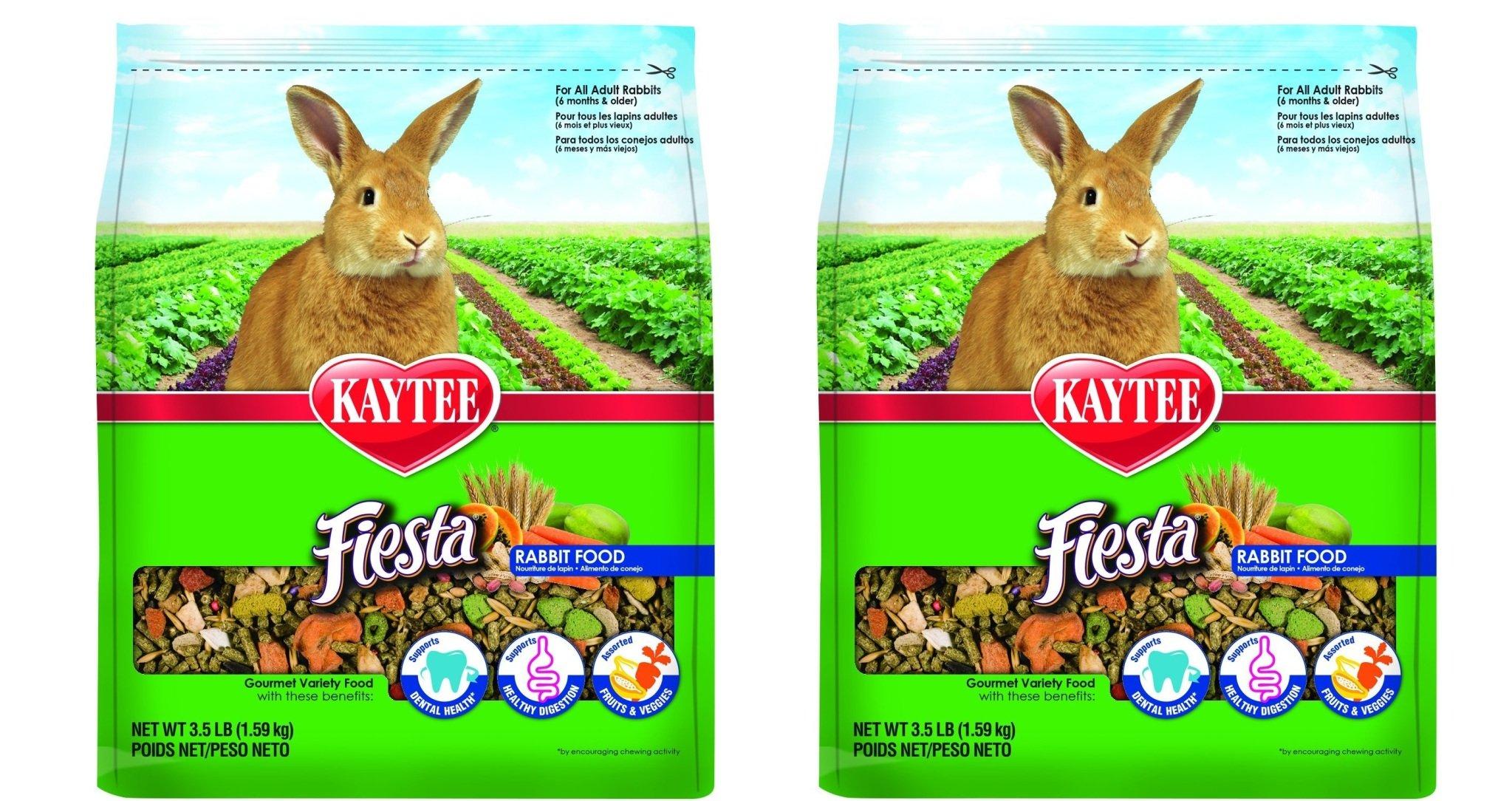 Kaytee Fiesta rATmhE Rabbit Food, 3.5-Pound (Pack of 2)