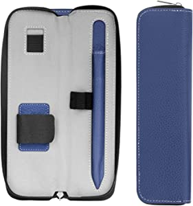 """MoKo Holder Case for i-Pencil (1st and 2nd Gen), Carrying Bag Sleeve Pouch Cover for iPad Pro 11 & 12.9 2020/iPad 10.2/iPad Air(3rd Gen) 10.5""""/iPad Mini(5th Gen) 7.9"""" 2019, Built-in Pocket - Indigo"""