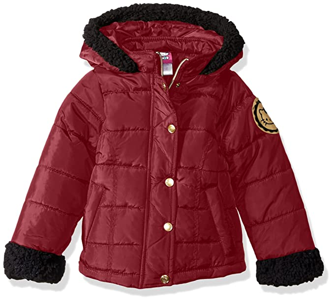 d6fccd4d124 Hello Kitty Girls Puffer Jacket Sherpa Trim Hood Sleeves  Amazon.ca   Clothing   Accessories