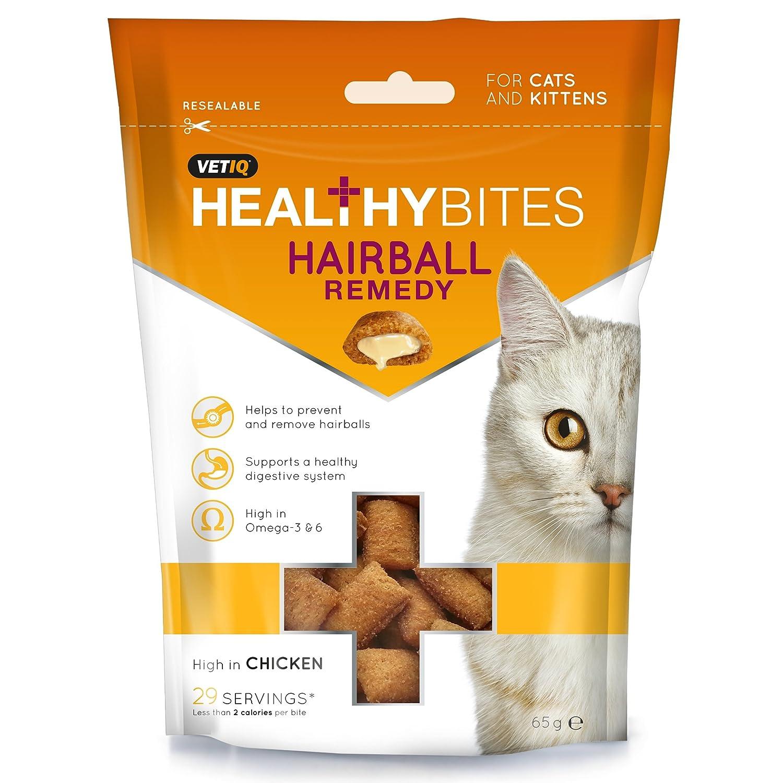 VetIQ Healthy Bites - Bocaditos para prevenir las bolas de pelo para gatos y gatitos UTTL439_1