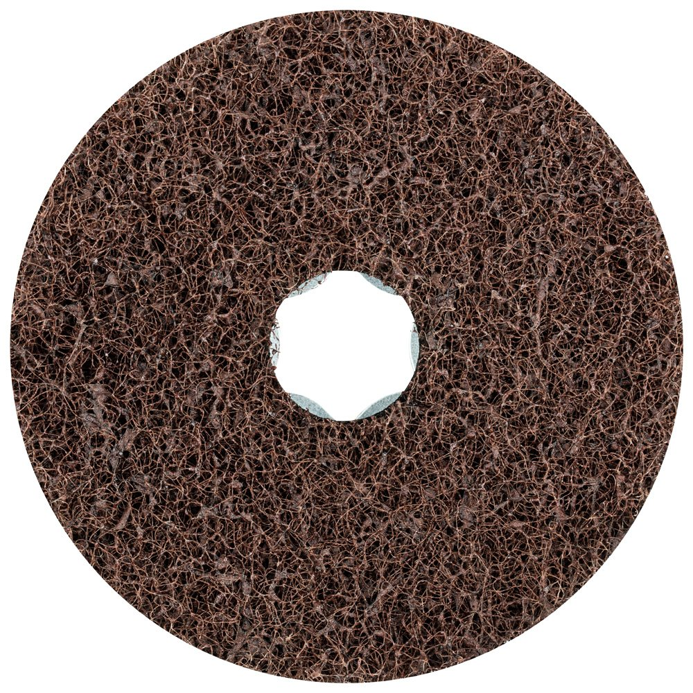 PFERD 48127 Combiclick Non-Woven Disc, Soft Type, 4'' Diameter, 12,000 RPM, Medium Grit (Pack of 10)