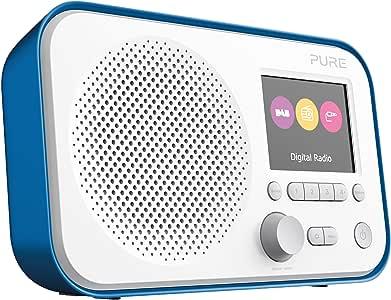 Pure Elan E3 Portable Digital DAB/DAB+/FM Digital Radio with Alarm, Colour Screen, AUX Input, Headphones Output and 40 Station Presets – Portable Radio/Portable DAB Radio – Blue