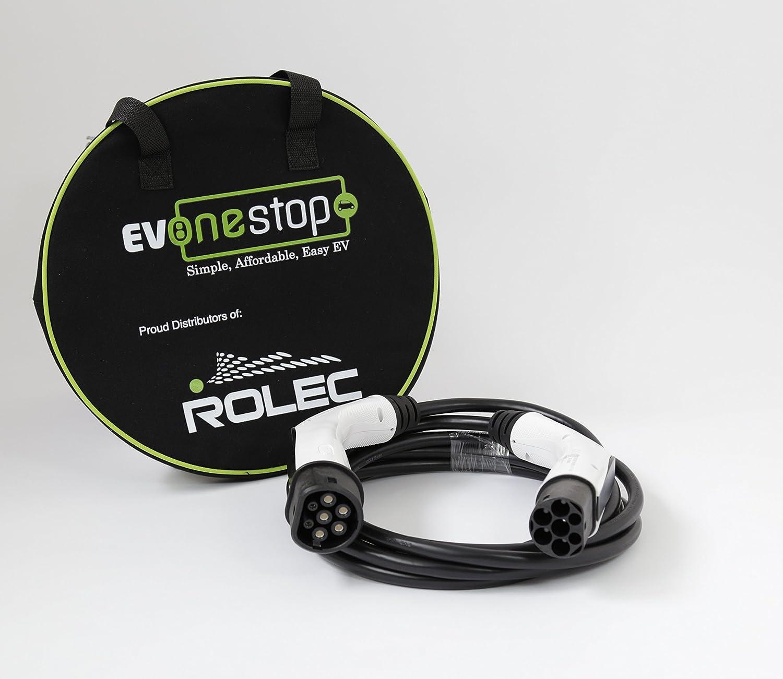 Câ ble de chargement rapide EV IEC62196 Type 2 32 A, PHEV câ ble de 5 mè tres, sac de transport inclus Rolec EVPP0100