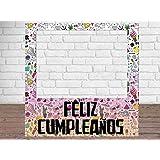 Photocall Feliz Cumpleaños Eventos o Celebraciones puntuales | Medidas 1,00 m x 1,00 m…