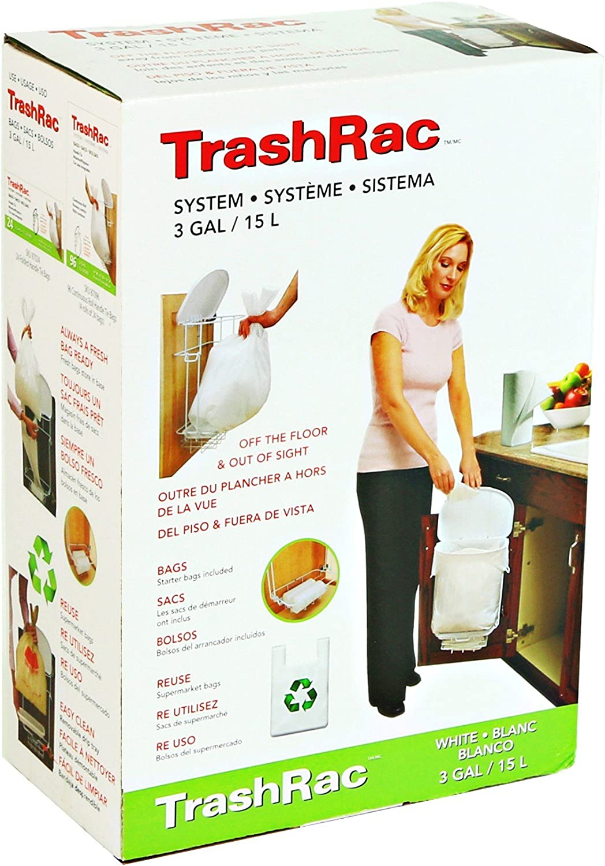 New Kitchen Carrier Bag Storage Stick Bag Dispenser Racks Home Supplies LA