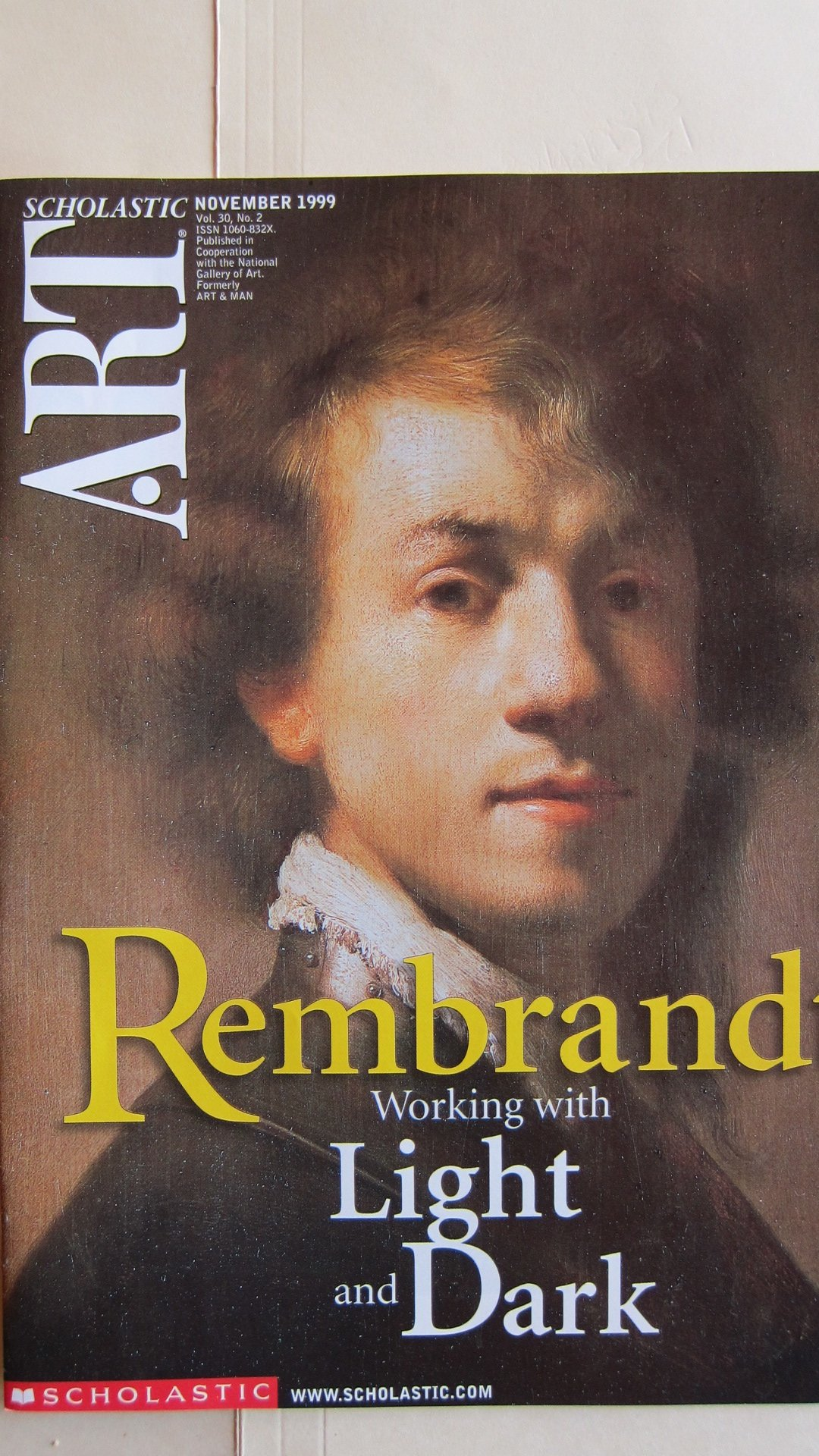 scholastic art magazine rembrandt working with light and dark nov 1999 scholastic art magazine