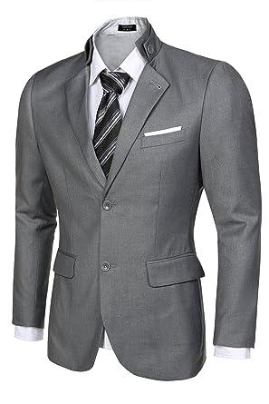 Coofandy Men's Casual Dress Suit Slim Fit Stylish Blazer Coats