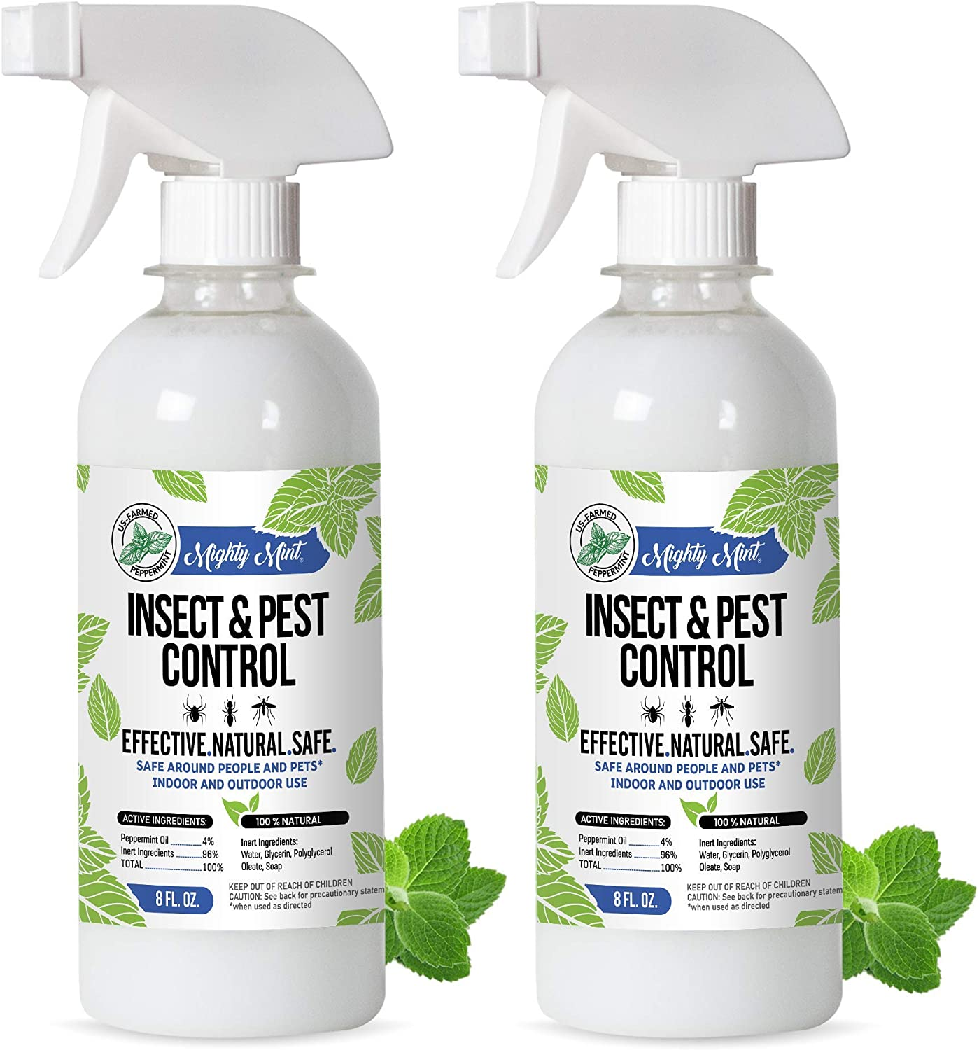Mighty Mint 8oz Insect and Pest Control Peppermint Oil - Natural Spray for Spiders, Ants, and More - Non-Toxic (2)