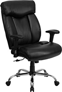 Flash Furniture HERCULES Series Big & Tall 400 lb. Rated Black LeatherSoft Executive Ergonomic Office Chair with Full Headrest & Arms