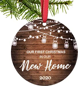 Fvviia 2020 Christmas Ornaments Personalized Wooden Christmas Tree Hanging Ornaments,Surviving Memorial Gift,2020 Event Ornament for Xmas Tree Decor & Unique Gifts (New Home)