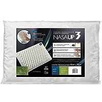 Travesseiro Nasa Up 3 P/ Fronha 50X70, Fibrasca, Com Revestimento em Malha 100% Poliéster, Branco