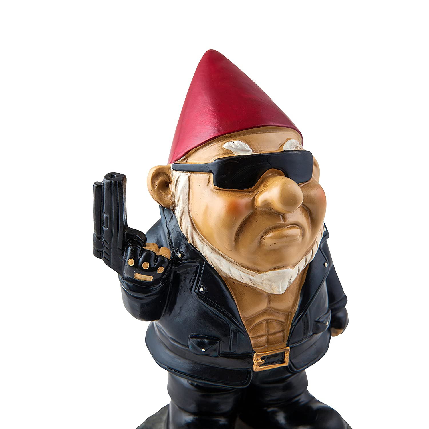 Amazon.com : Big Mouth Toys The Gnominator Garden Gnome Statues : Garden U0026  Outdoor