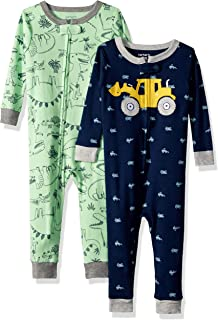 96b41beea19f Amazon.com  Carter s Baby Boys  2-Pack Cotton Footed Pajamas  Clothing