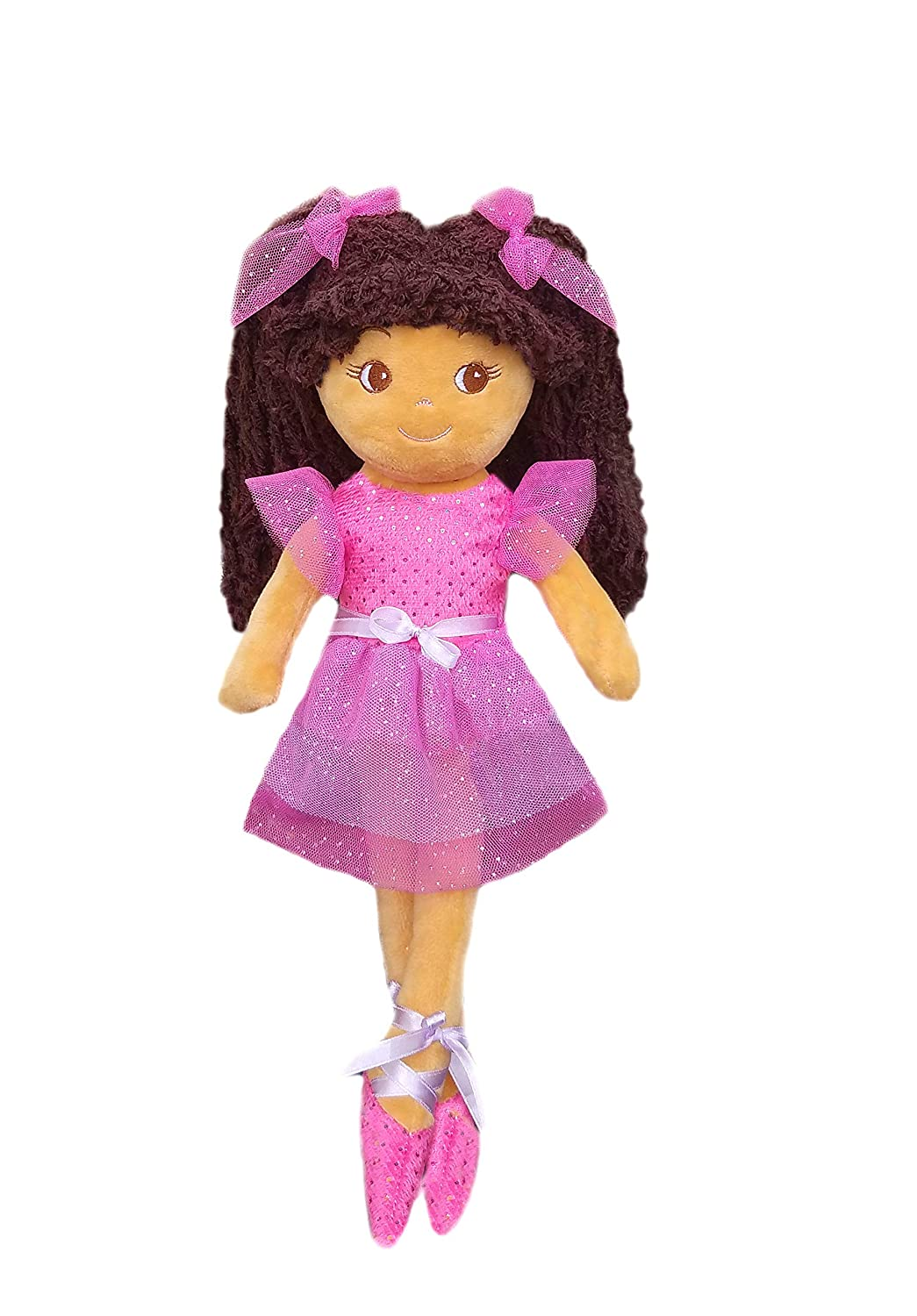 Pink tan Skin girlzndollz 600576 Elana Multicolor Ballerina Doll Purple 14