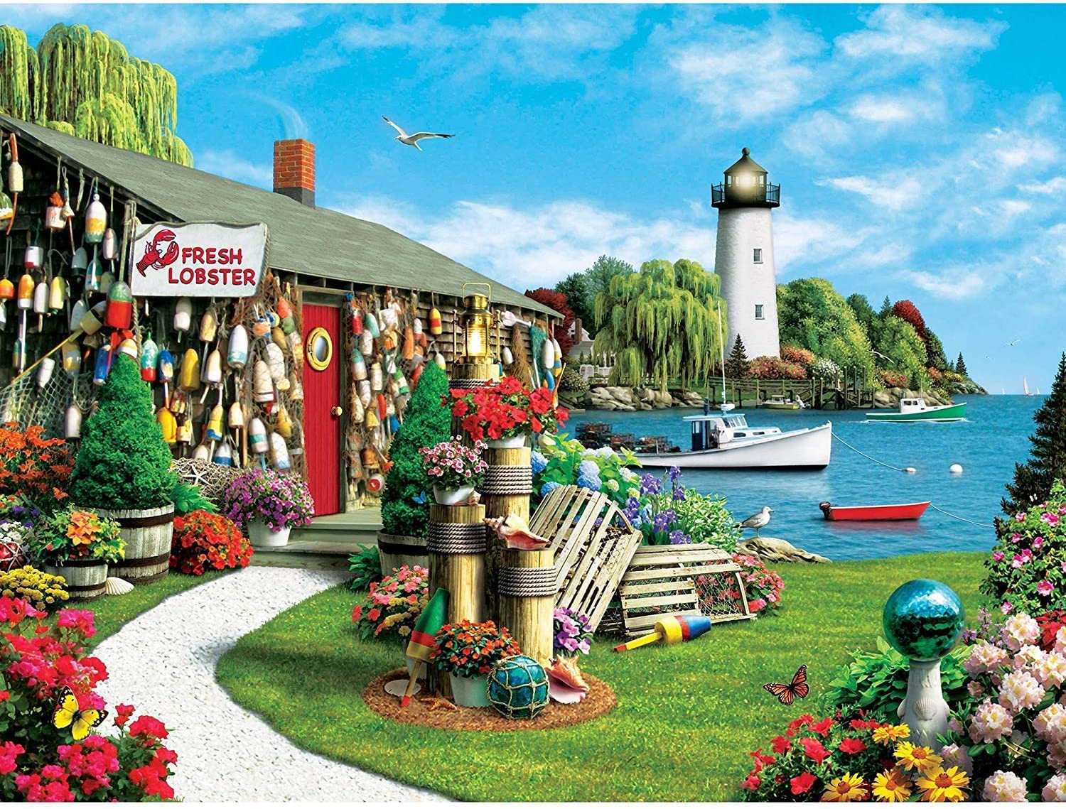 MasterPieces Memory Lane 300 Puzzles Collection - Lobster Bay 300 Piece Jigsaw Puzzle