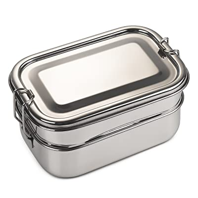 Bare Ware Three Layer Stainless Steel Lunch Box Set - Eco Friendly Food Container Bento