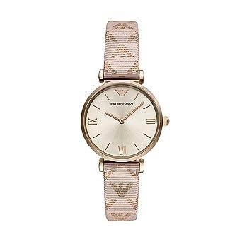 Emporio Armani Reloj Analógico para Mujer de Cuarzo con Correa en Cuero AR11126: Amazon.es: Relojes