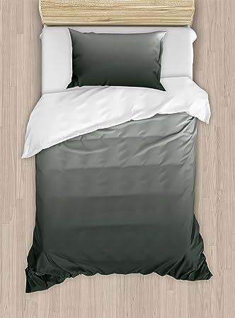 amazon com ambesonne ombre duvet cover set twin size smoke fog rh amazon com