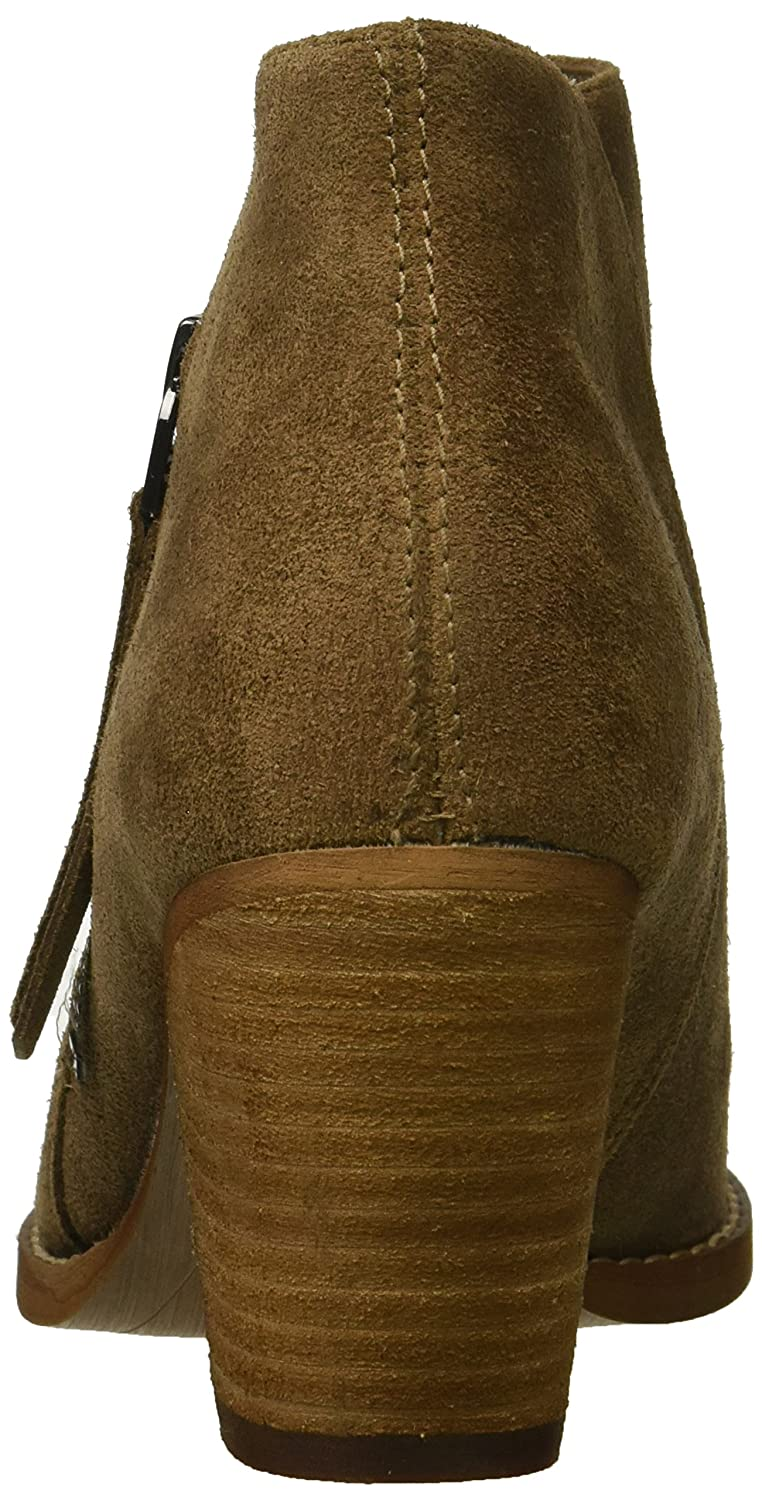 Sam Edelman Women's Macon Ankle Boot B07BQYX7T6 6.5 B(M) US|Dark Taupe Suede