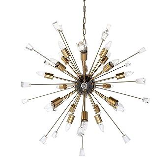 gold sputnik chandelier. DANTE ITALIAN STARBURST 24-LIGHT SPUTNIK CHANDELIER (GOLD) Gold Sputnik Chandelier Y