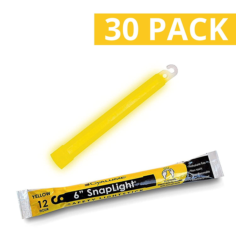 Amarillo paquete de 10 6 de largo 12 horas Duraci/ón Cyalume Snaplight grado industrial luces qu/ímicas