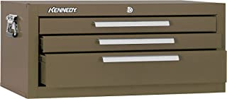 """product image for Kennedy Manufacturing 2603B 3-Drawer Mechanic's Chest Base with Friction Slides, 26"""", Brown Wrinkle"""