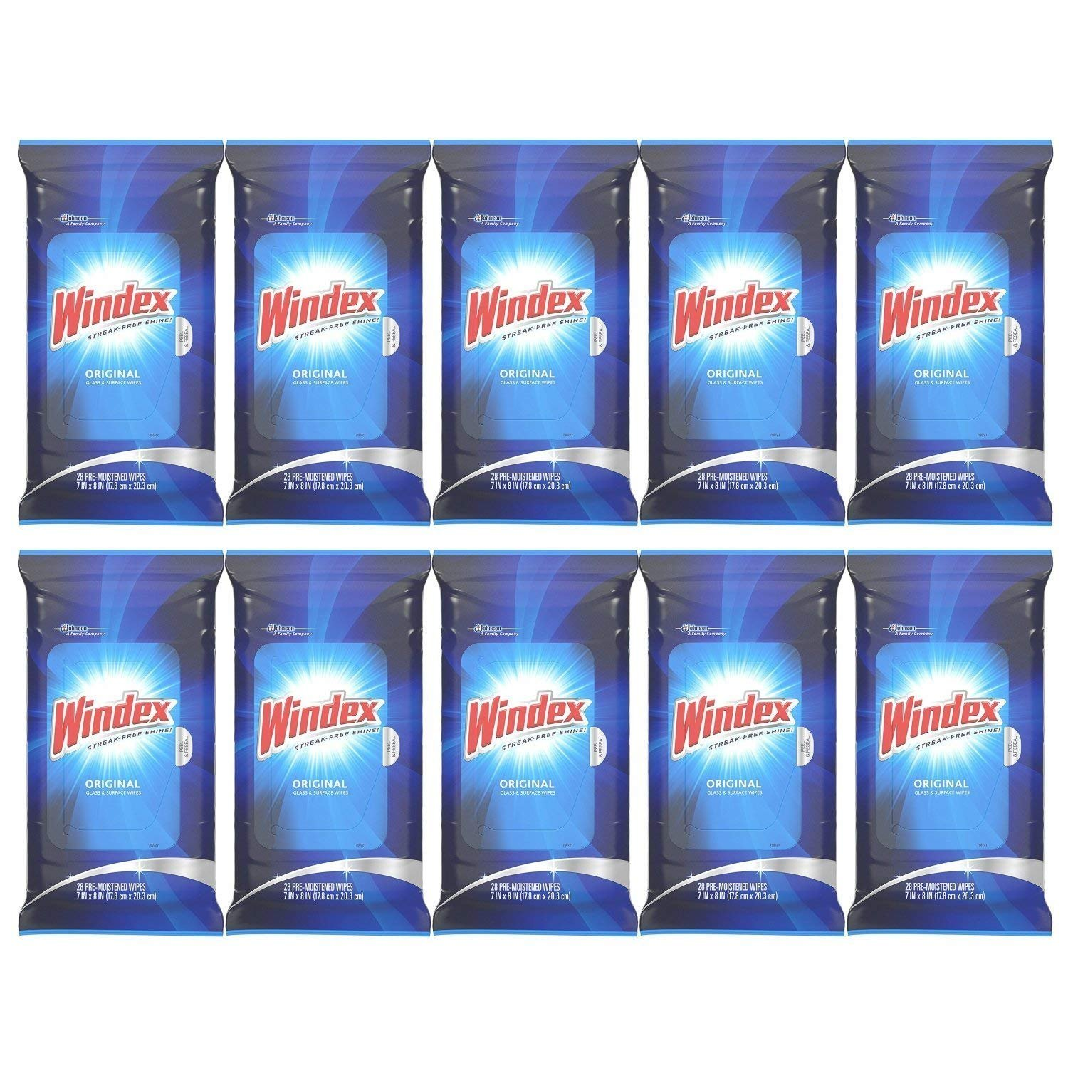 Windex Flat Pack Wipes, 28 CT (10 PACK) by Windex (Image #1)