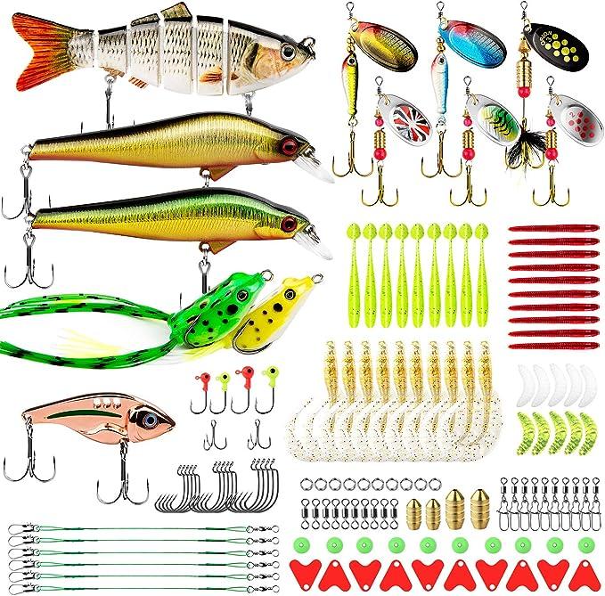6PCS 12cm//13g Multi Jointed Fishing Lures Swimbait Hard Bait Crankbait Tackle