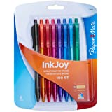 Paper Mate InkJoy 100RT Ballpoint Pen, Retractable, Fashion Colors, 8-Pack (1803476)