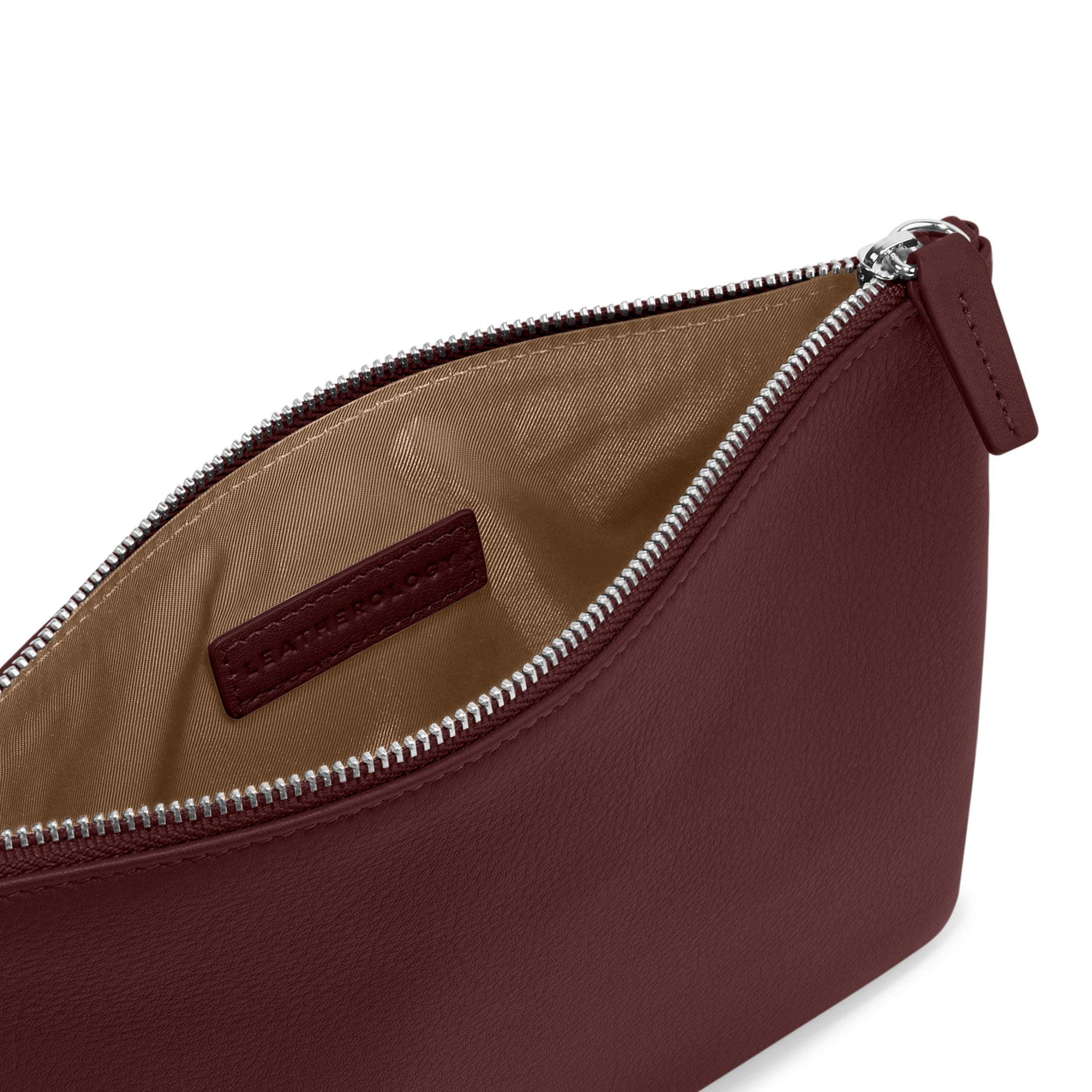 Medium Pouch - Full Grain Leather Leather - Bordeaux (Red) by Leatherology (Image #4)