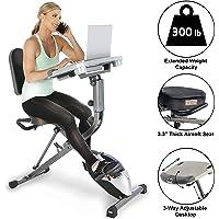 Exerpeutic Exerwork 1000 Inklapbare lig-hometrainer met verstelbaar werkblad. Train terwijl je werkt.