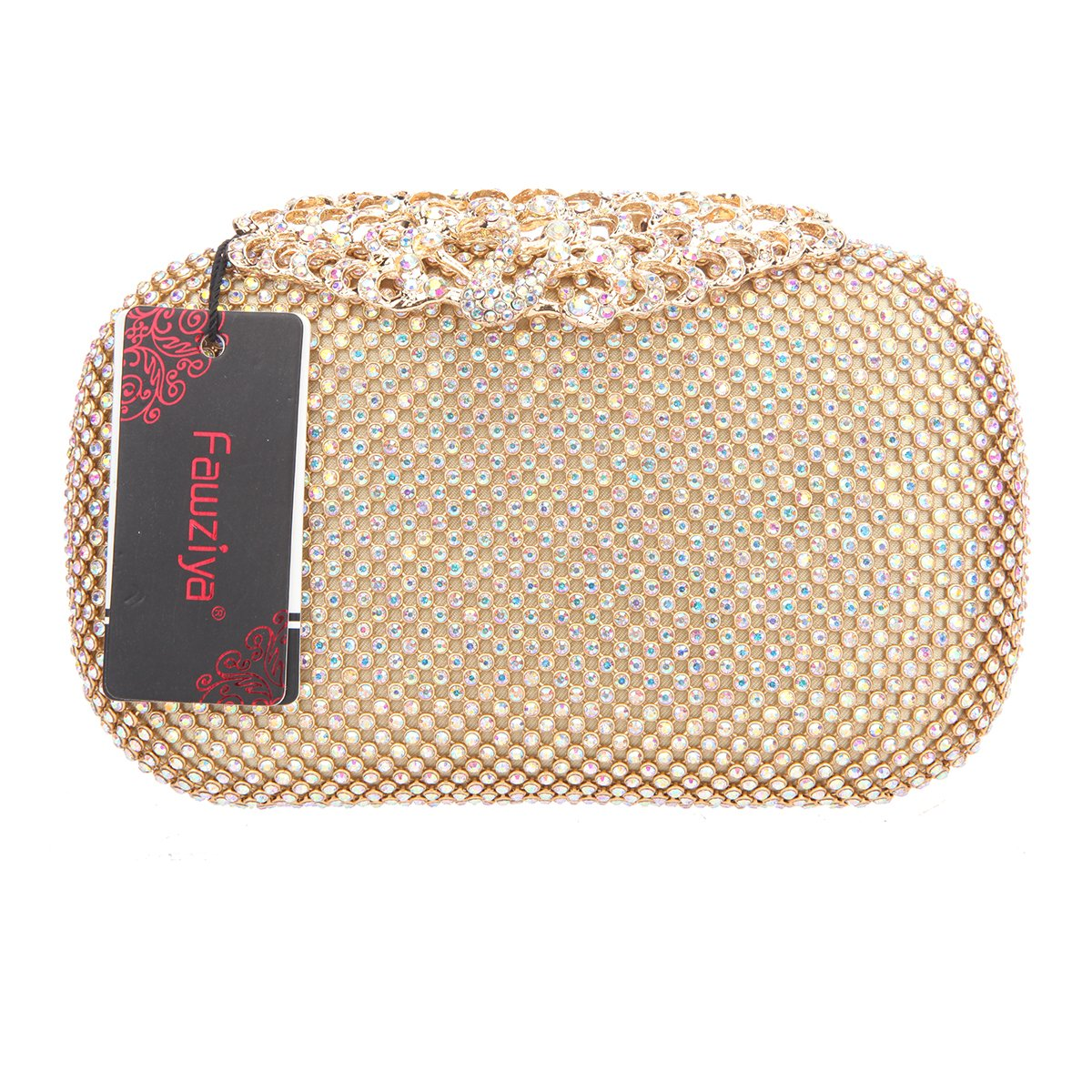 Amazon.com: fawziya pavo real embrague cartera Rhinestones ...
