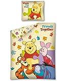 Conjunto de Funda nórdica reversible para cama de Disney Winnie the Pooh 100% algodón