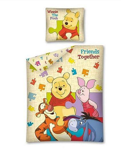 Copripiumino Singolo Winnie The Pooh.Winnie Pooh Friends Together Set Letto Cotone Copripiumino Pimpi Ih Oh Tigro Originale Disney 140x200cm