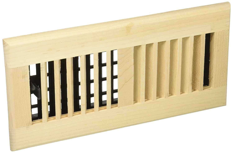 Decor Grates WML410-U 4-Inch by 10-Inch Wood Floor Register ...