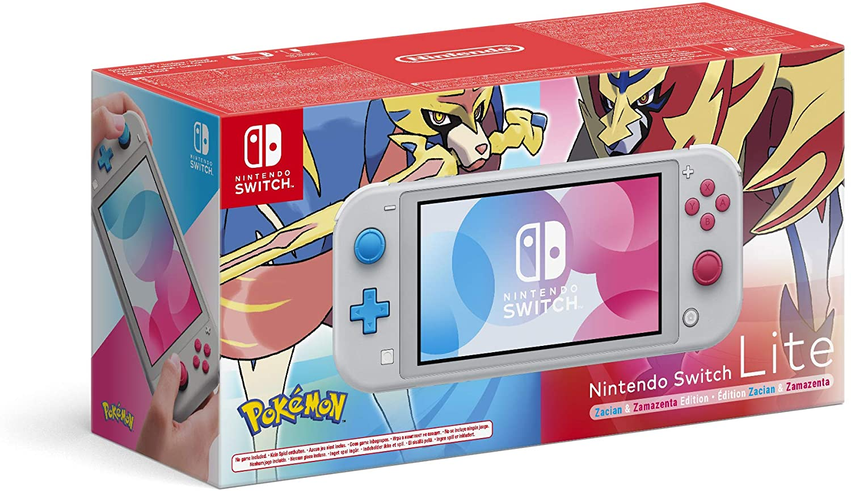 Nintendo Switch Lite, Zacian & Zamazenta, Edizione Speciale, Grigio Chiaro