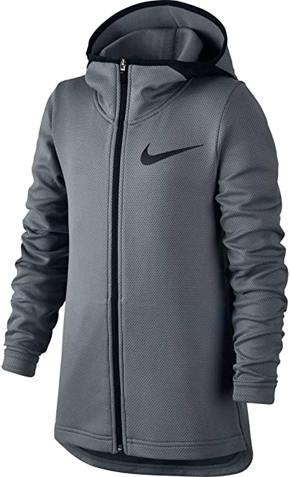 e6208dfa132 Nike Boys  Therma Flex Showtime Full Zip Basketball Hoodie (Cool Grey White