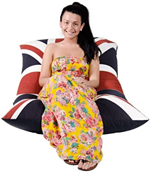 Pleasant Lounge Lizard Union Jack Bean Bag Luxurious Overstock Produced World Cup Andrewgaddart Wooden Chair Designs For Living Room Andrewgaddartcom