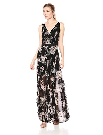 0f37076dd3 BCBGeneration Women s Cascade Ruffle Maxi Dress Special Occasion ...