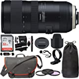 Tamron SP 70-200mm F/2.8 Di VC G2 for Nikon FX Digital SLR Camera (6 Year Tamron Limited Warranty), Sandisk 32GB Memory Card, Lowepro Passport Messenger Bag, Filters, Cleaning Kit and Accessory Bundle