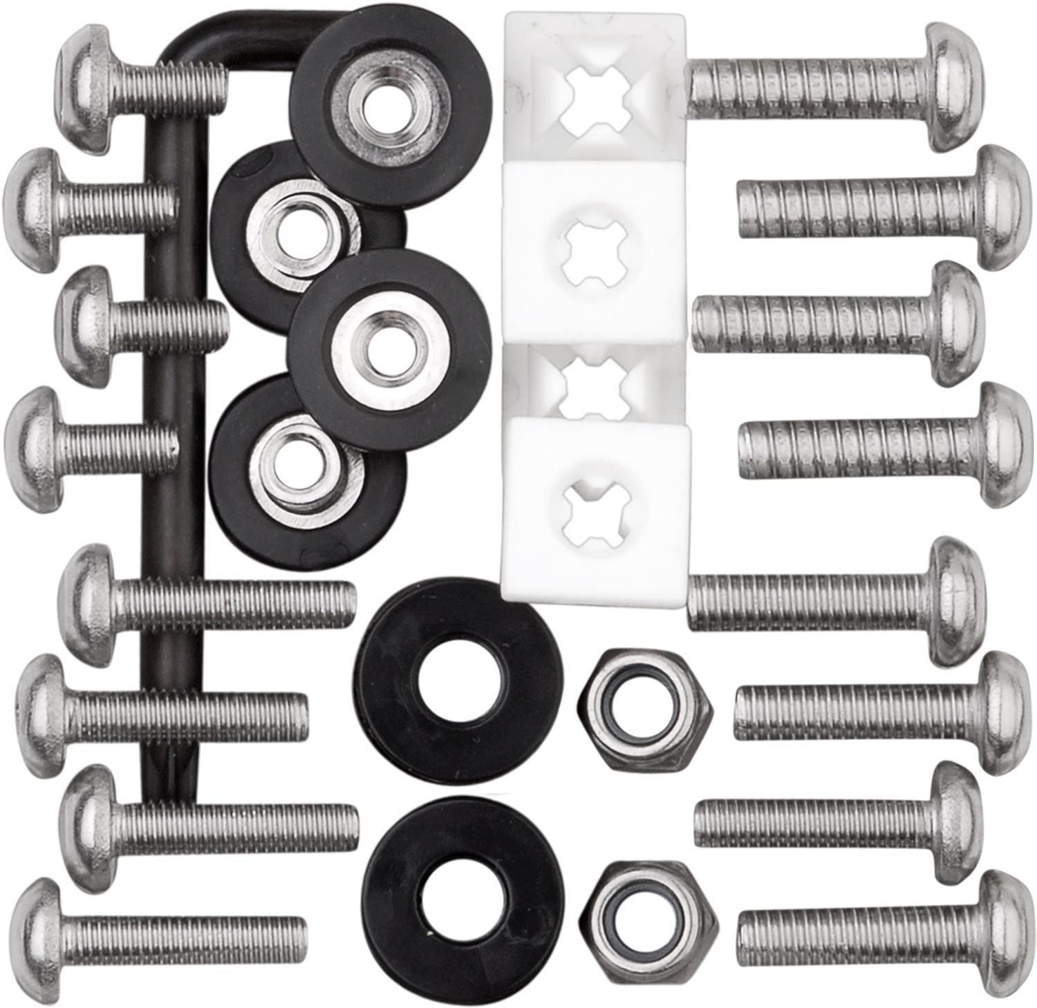 Cruiser Accessories 81500 Locking Fasteners License Plate Frame Hardware Ultimate Kit-Stainless Star Pin