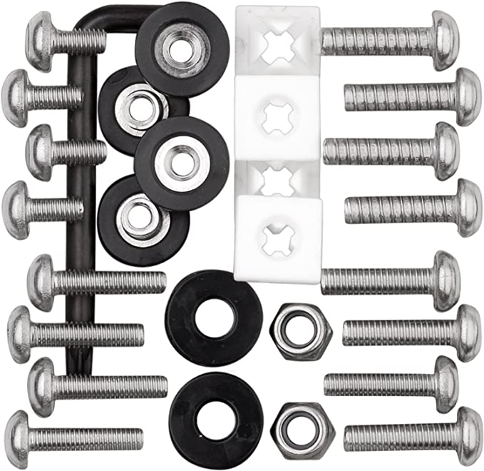 Amazon.com: Cruiser Accessories 81500 Locking Fasteners License Plate Frame Hardware, Ultimate Kit-Stainless Star Pin: Automotive