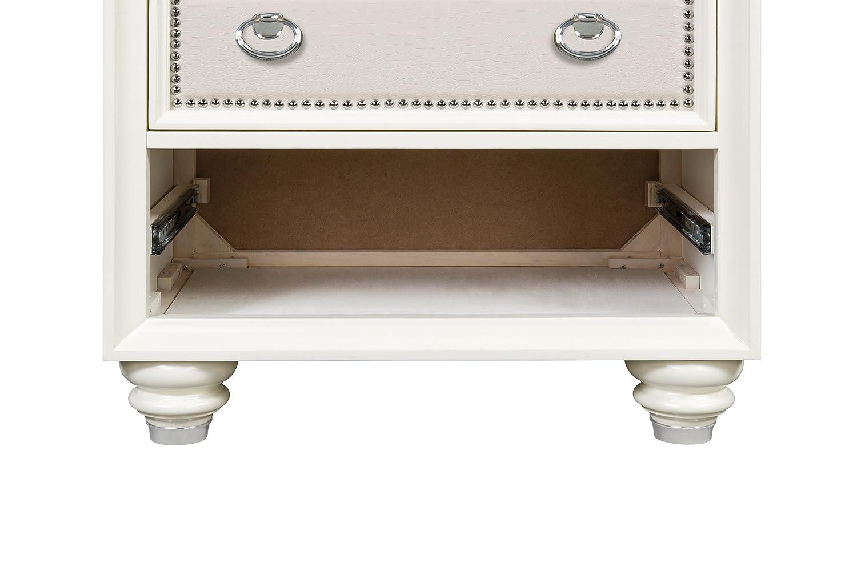 Amazon Magnussen Home Furnishings B2344 Diamond High Gloss White Wood Drawer Nightstand Kitchen Dining