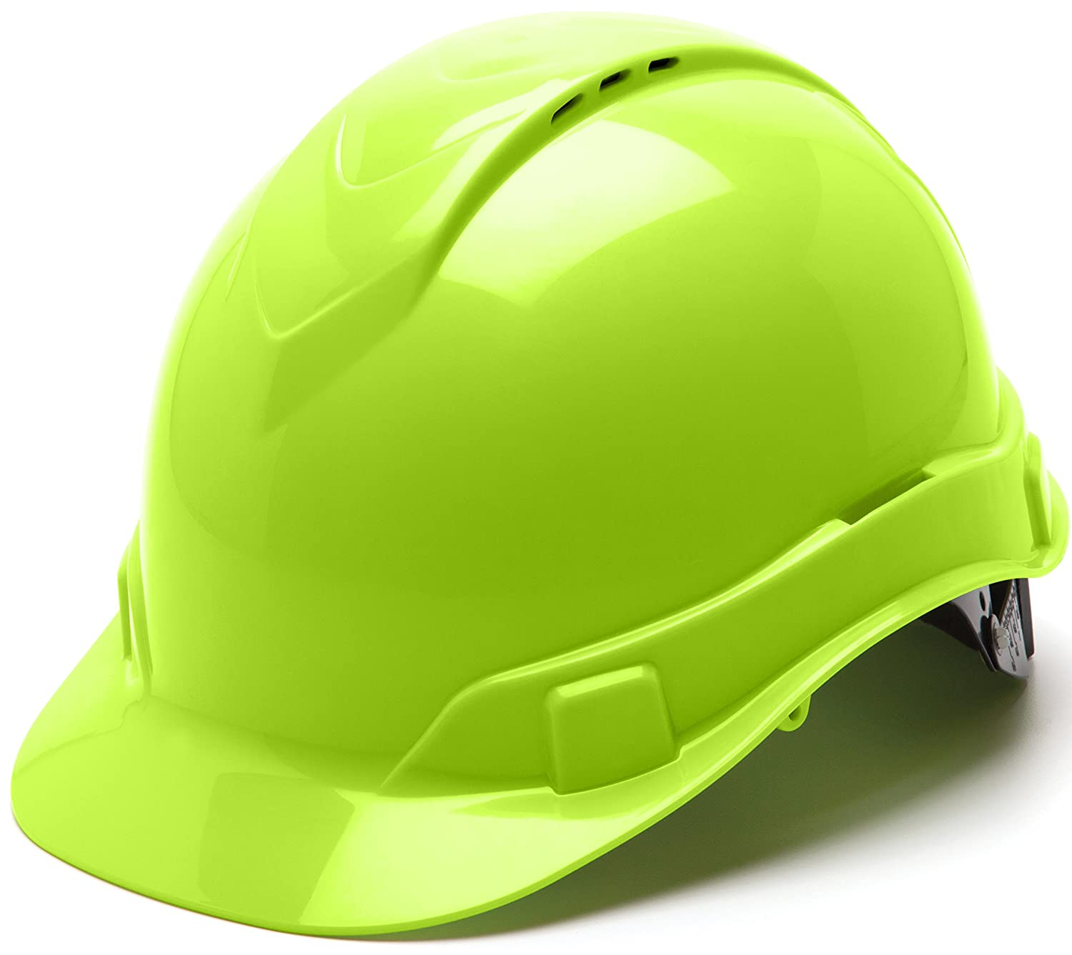 Pyramex HP44131V Ridgeline Cap Style Hard Hat with 4-Point Vented Ratchet, Hi-Vis Green by Pyramex Pyramex Safety Products