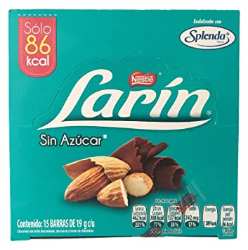 Larín Sugar Free Chocolate Bars (15 pack)