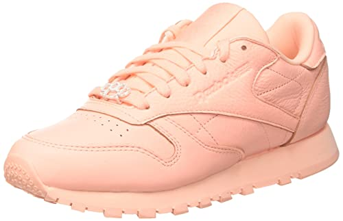 7f440a655 Reebok Classic Leather L, Women's Low-Top, Gymnastics Shoes: Amazon ...