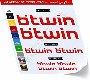 Pegatinas Bicicleta compatible BTWIN Kit 1 _ Kit Pegatinas Stickers ...