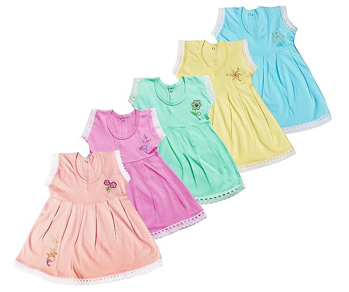 04935ffad Jo Kids Wear Baby Girls Frocks set (4075 Multicolour 0 - 6 Months ...